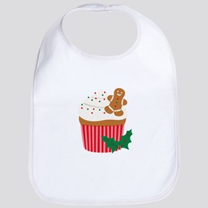 Christmas Cupcake Bib