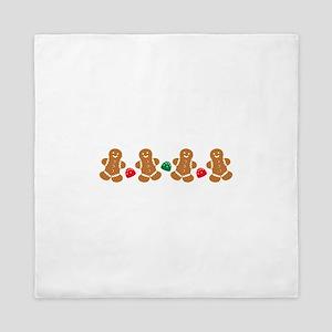 Gingerbread Border Queen Duvet