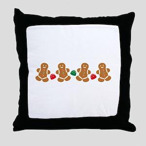 Gingerbread Border Throw Pillow