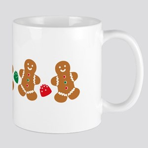 Gingerbread Border Mugs