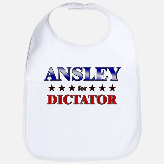 ANSLEY for dictator Bib