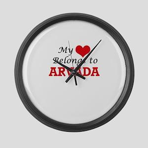My heart belongs to Arvada Colora Large Wall Clock