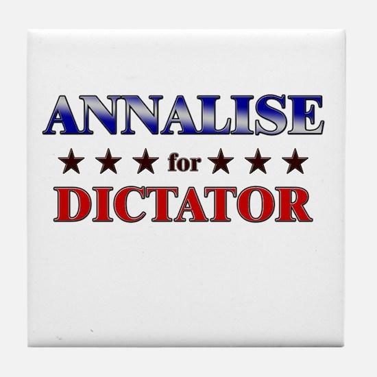 ANNALISE for dictator Tile Coaster
