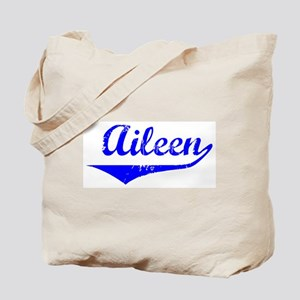 Aileen Vintage (Blue) Tote Bag