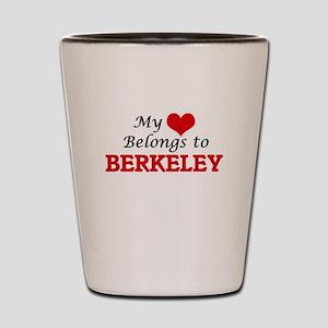 My heart belongs to Berkeley California Shot Glass