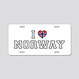 I Love Norway Aluminum License Plate