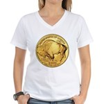 Gold Buffalo Women's V-Neck T-Shirt
