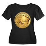 Gold Buffalo Women's Plus Size Scoop Neck Dark T-S
