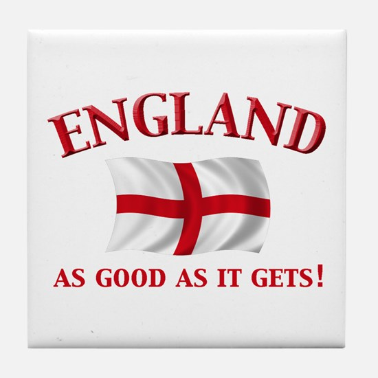 English Flag Tile Coaster