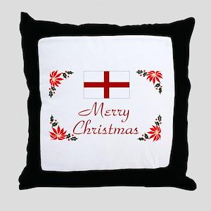 England-Merry Christmas Throw Pillow