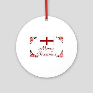 England-Merry Christmas Keepsake Ornament