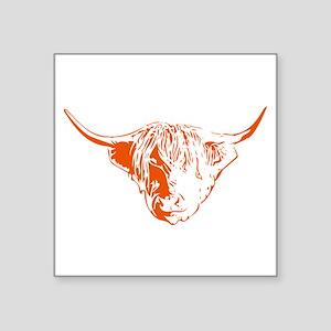 Scottish Ginger Highland Cow Sticker