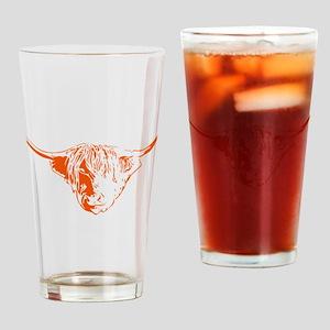 Scottish Ginger Highland Cow Drinking Glass