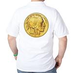 Gold Indian Head Golf Shirt