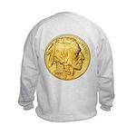 Gold Indian Head Kids Sweatshirt