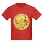 Gold Indian Head Kids Dark T-Shirt