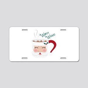 Warm Wishes Aluminum License Plate