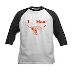 I Love Moo Highland Cow Baseball Jersey