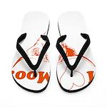 I Love Moo Highland Cow Flip Flops