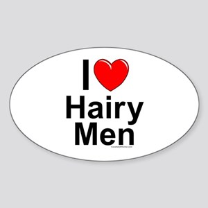 Hairy Men Sticker (Oval)