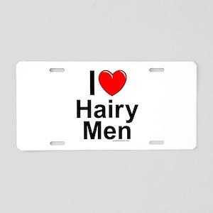 Hairy Men Aluminum License Plate
