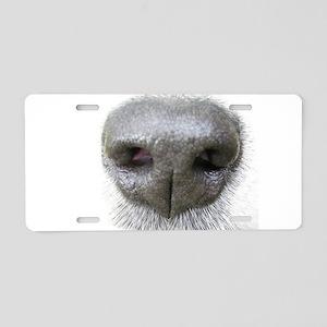 dog nose Aluminum License Plate