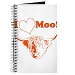 I Love Moo Highland Cow Journal