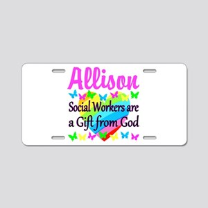 SOCIAL WORKER Aluminum License Plate