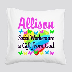 SOCIAL WORKER Square Canvas Pillow
