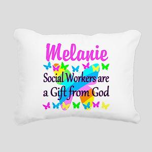 SOCIAL WORKER Rectangular Canvas Pillow