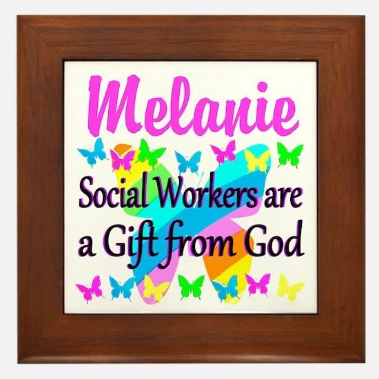 SOCIAL WORKER Framed Tile