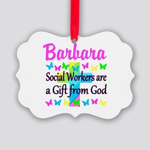 SOCIAL WORKER Picture Ornament