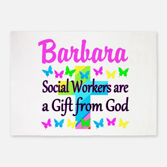 SOCIAL WORKER 5'x7'Area Rug