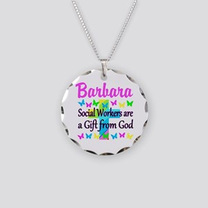 SOCIAL WORKER Necklace Circle Charm
