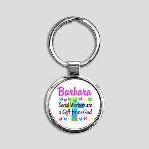 SOCIAL WORKER Round Keychain