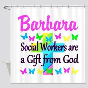 SOCIAL WORKER Shower Curtain