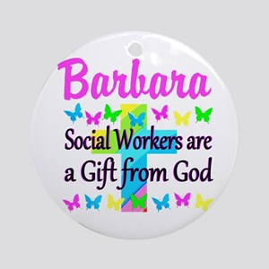 SOCIAL WORKER Round Ornament