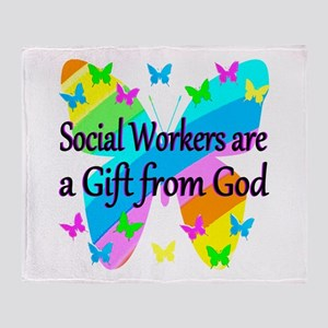 SOCIAL WORKER Throw Blanket