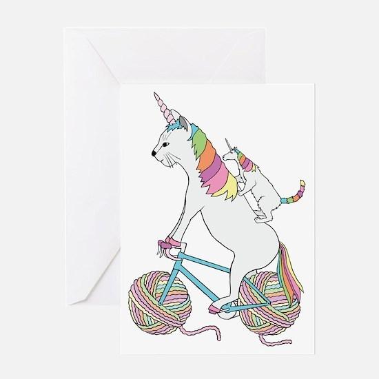 Funny Yarn art Greeting Card