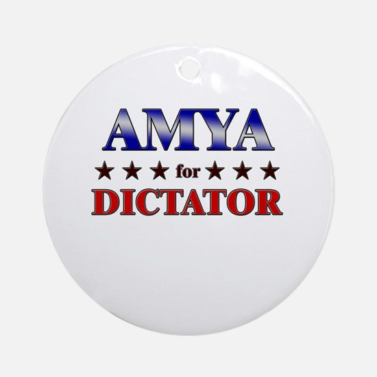 AMYA for dictator Ornament (Round)