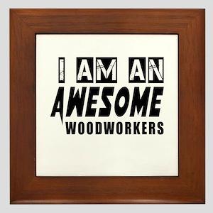 I Am Woodworkers Framed Tile