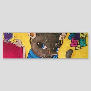 Maine Coon Writer Cat 2 Bumper Sticker