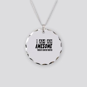 I Am Website content writer Necklace Circle Charm