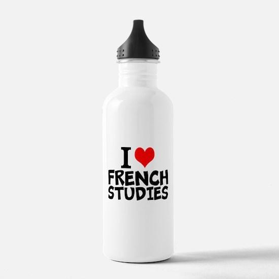I Love French Studies Water Bottle