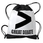 Greater Than Great Debate Drawstring Bag