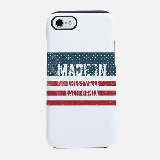 Made in Forestville, Califor iPhone 8/7 Tough Case