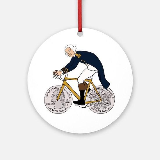 Funny George washington Round Ornament