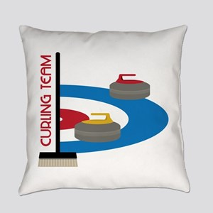 Curling Team Everyday Pillow
