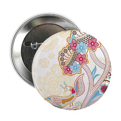 """Ornamental Vintage Floral P 2.25"""" Button (10 pack)"""
