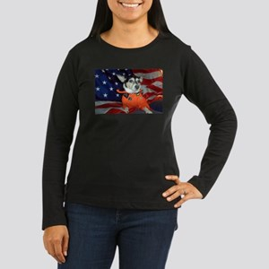 Space Cadet Women's Long Sleeve Dark T-Shirt